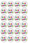 24 x Best Teacher Edible Wafer Rice Paper Cupcake Toppers